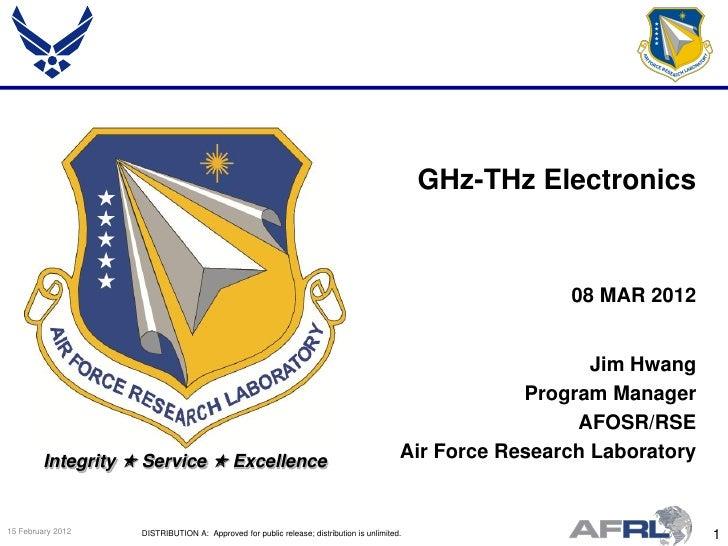 GHz-THz Electronics                                                                                                       ...