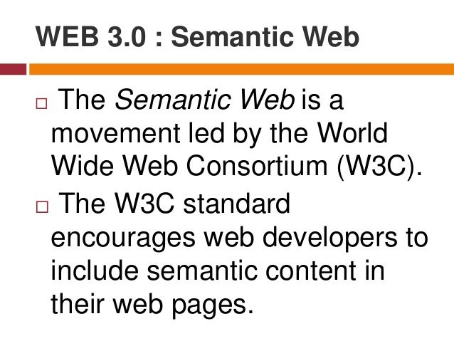 """According to the W3C, """"The Semantic Web provides a common framework that allows data to be shared and reused across applic..."""