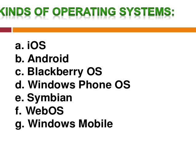 iOS – iPhone Operating System