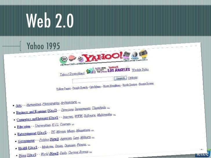 Web 2.0Yahoo 1995