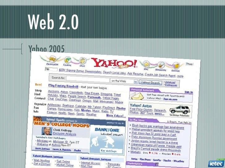 Web 2.0Yahoo 2005