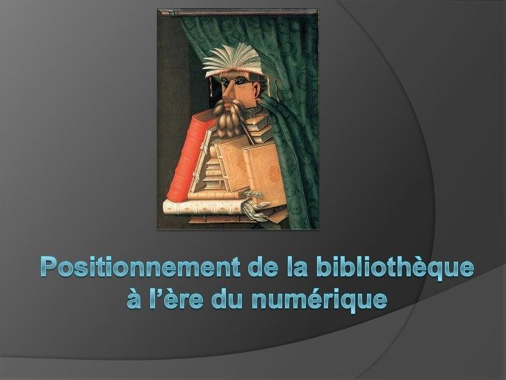 1  impacts dunumeriqueenbibliothèque-cnfpt2011 Slide 2