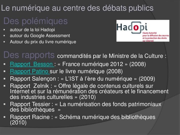 1  impacts dunumeriqueenbibliothèque-cnfpt2011 Slide 3