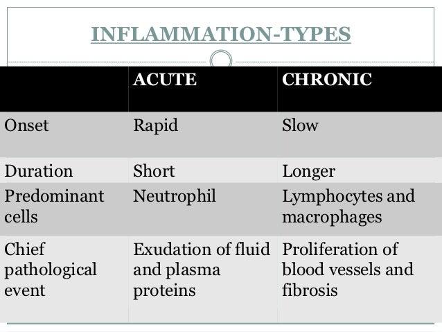 INFLAMMATION-TYPES               ACUTE              CHRONICOnset          Rapid              SlowDuration       Short     ...