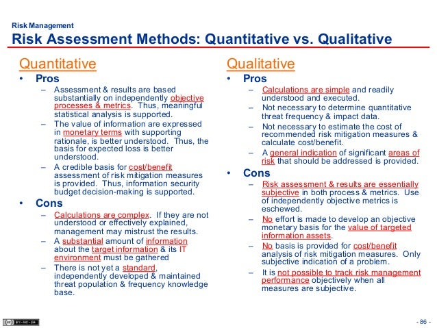 Qualitative And Quantitative Risk Analysis Project Management Pdf