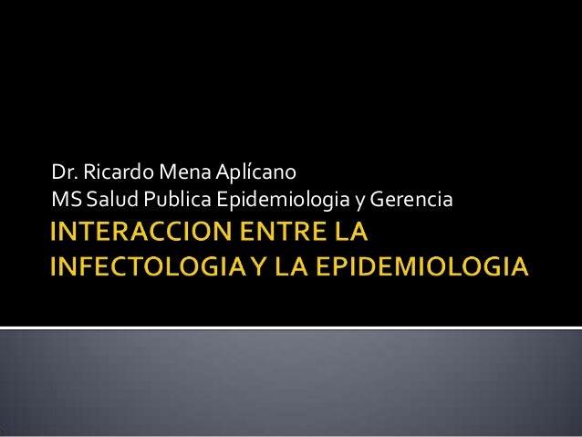 Dr. Ricardo MenaAplícano MS Salud Publica Epidemiologia y Gerencia