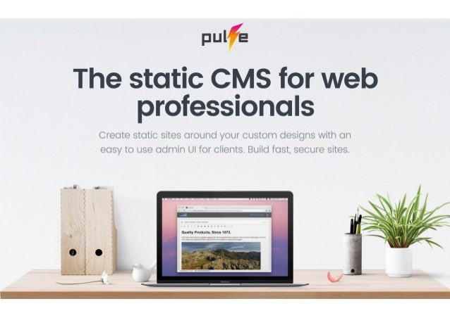 Static CMS for web professionals and their clients