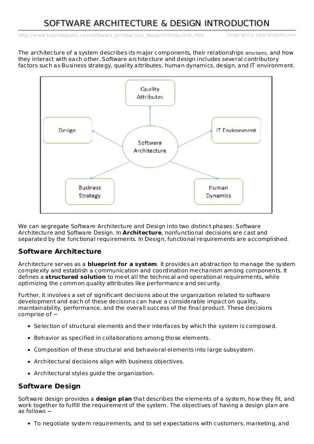 Software Architecture And Design Introduction