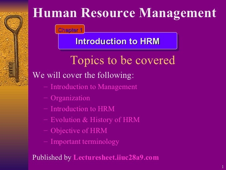 Introduction to hrm 1
