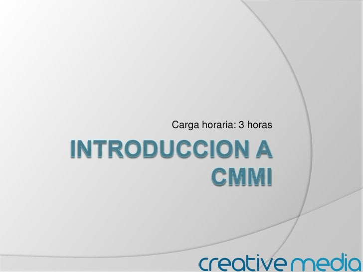 INTRODUCCION ACMMi<br />Carga horaria: 3 horas<br />