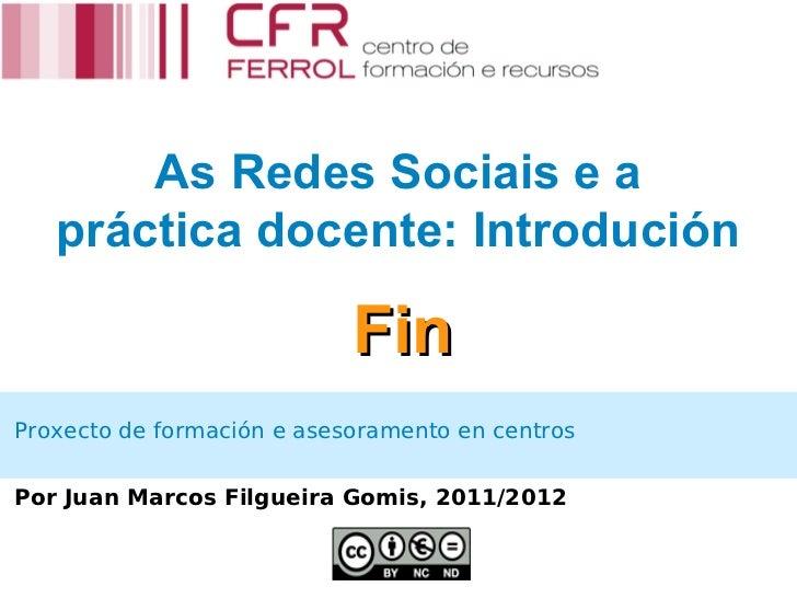 1. As redes sociais na práctica docente: Introdución