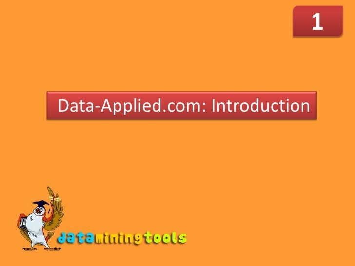 1<br /> Data-Applied.com: Introduction<br />