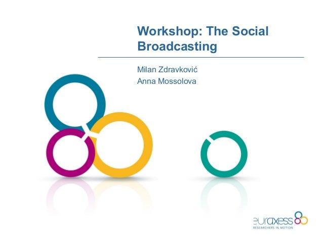Workshop: The SocialBroadcastingMilan ZdravkovićAnna Mossolova