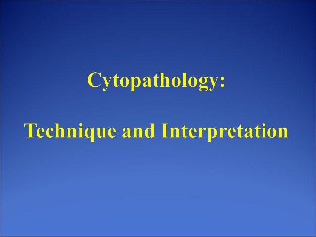 Cytopathology: An Introduction