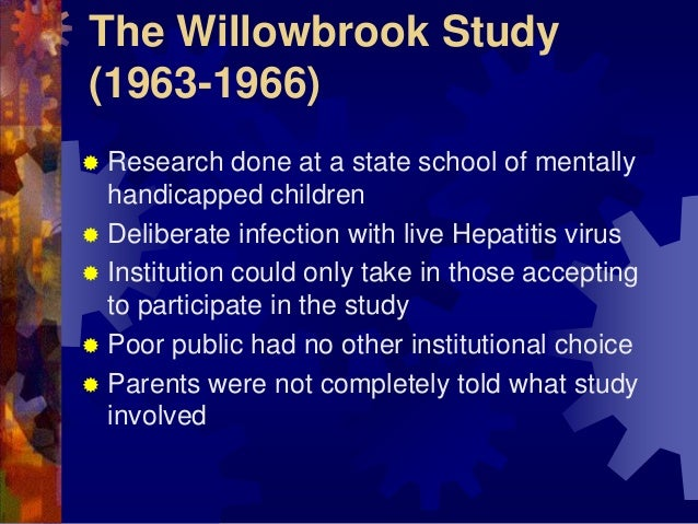 willowbrook conflict between research and ethics