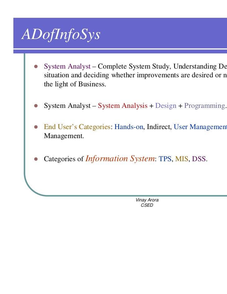 m i s system analysis design