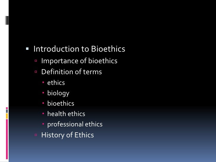 introduction to bioethics Introduction to bioethics for the biosafety professional and researcher a distance learning opportunity february 27, 28, and march 1, 2018 12:30 – 1:30pm (cst.