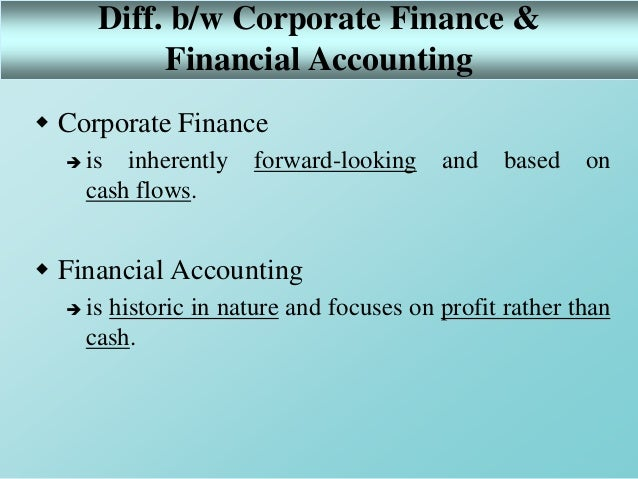 1  introduction to corporate finance
