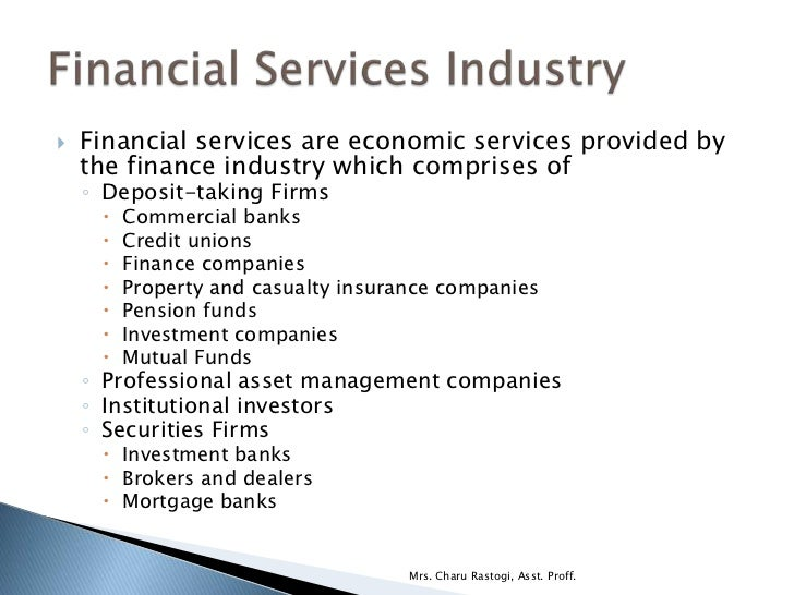 services provided by commercial banks