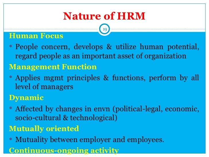introduction to hrm Introduction human resource management (hrm) is a planned approach to  managing people effectively for performance it aims to establish a more open,.