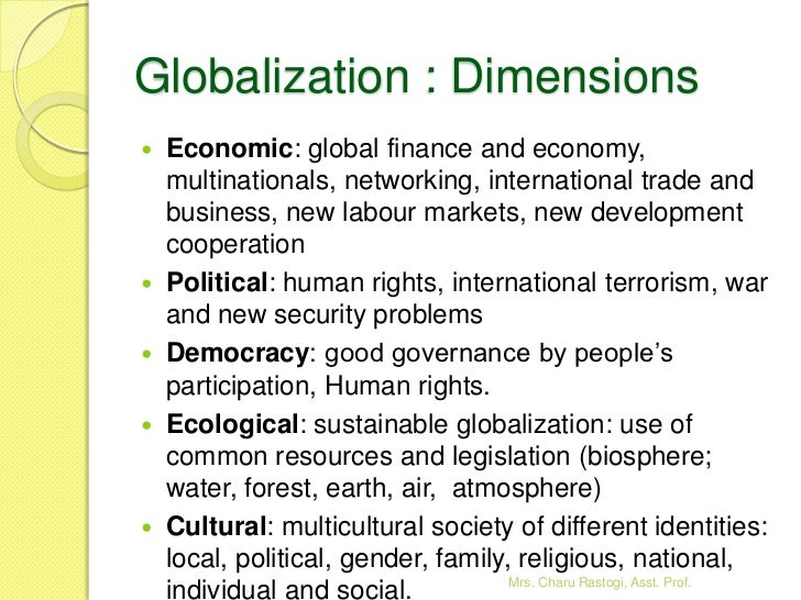 Thesis on economic globalization