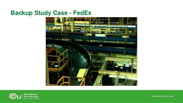 fedex case study intro Rod mcnealy, johnson & johnson marketing executive, wharton lecturer, presenting the federal express (fedex) case study on strategic marketing to princeton a.