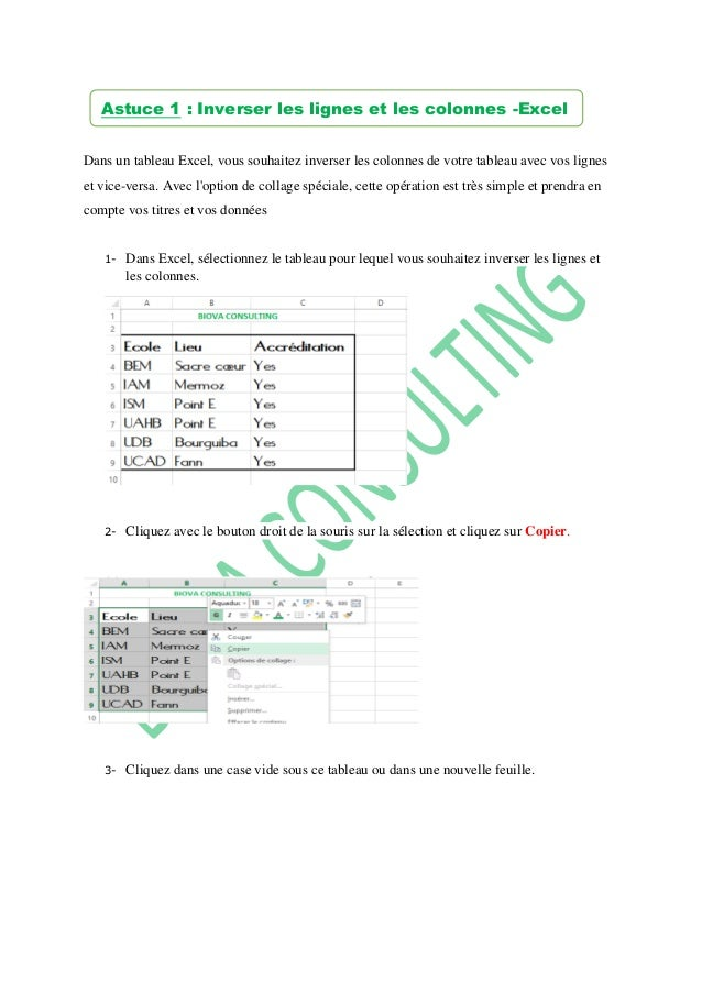 Dans un tableau Excel, vous souhaitez inverser les colonnes de votre tableau avec vos lignes et vice-versa. Avec l'option ...