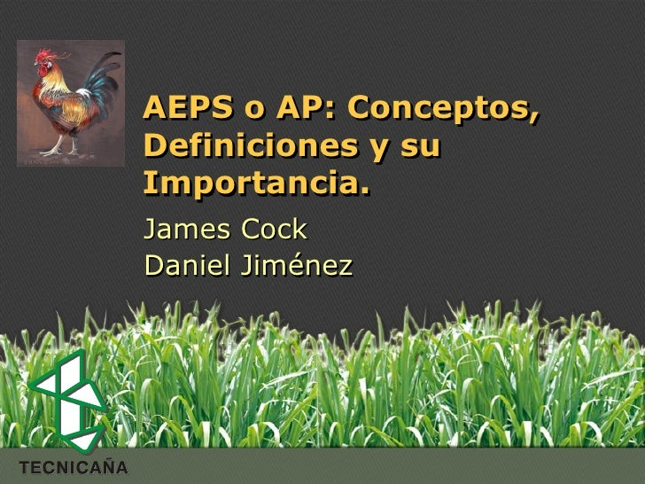 Espacio paracolocar          AEPS o AP: Conceptos,el Logo          Definiciones y su          Importancia.          James ...