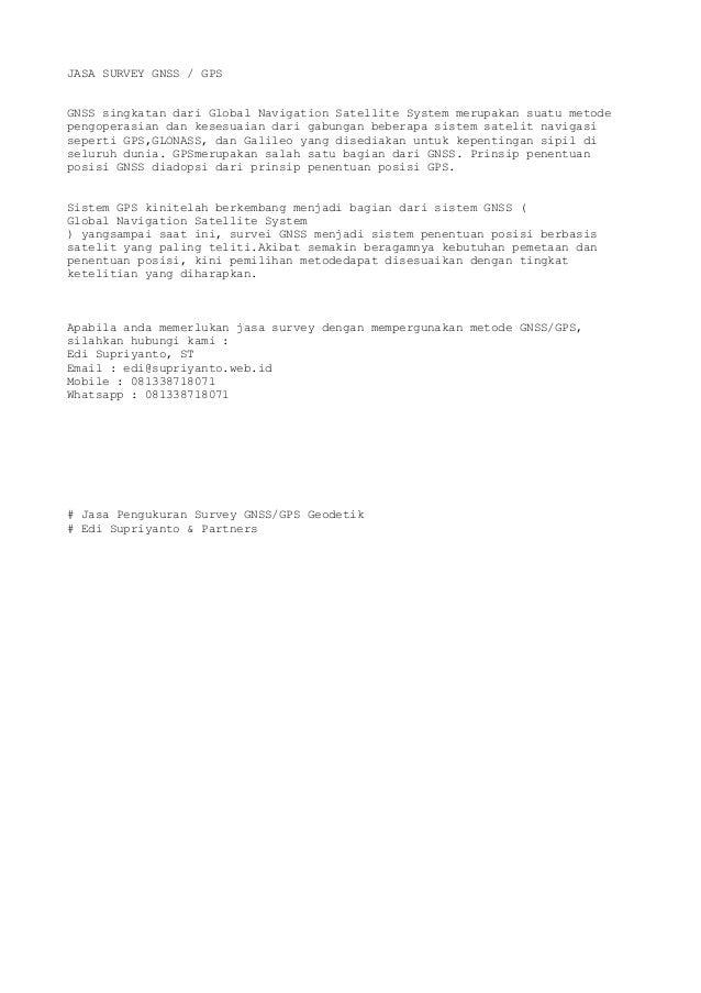 1 Jasa Survey Gnss Gps Geodetik Aceh Banda Aceh Sumatera