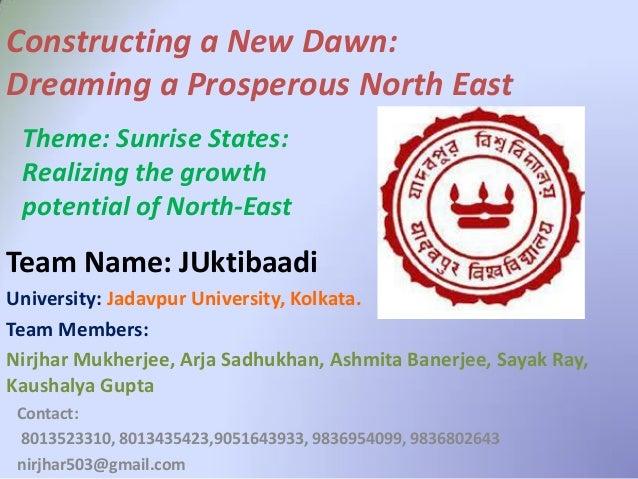 Contact: 8013523310, 8013435423,9051643933, 9836954099, 9836802643 nirjhar503@gmail.com University: Jadavpur University, K...