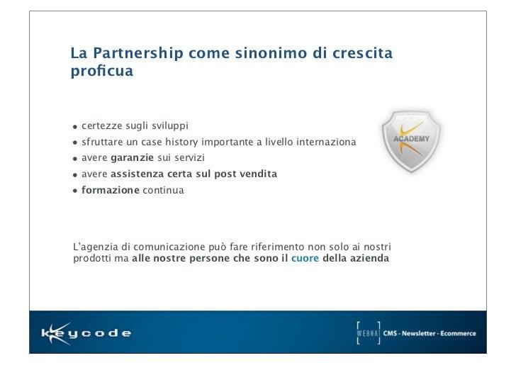 Presentazione azienda keycode keycode meeting 2012 for Sinonimo sfruttare