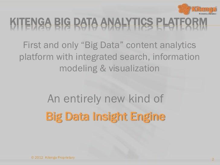 TCS Innovation Forum 2012 - Kitenga Slide 2