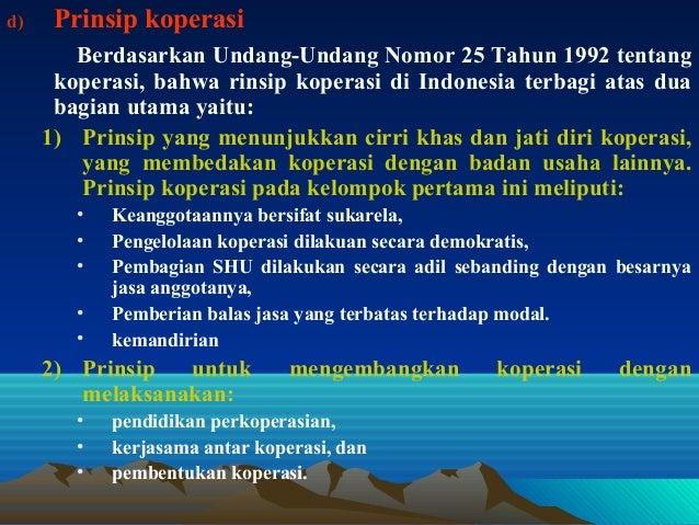 Sebutkan prinsip prinsip koperasi indonesia