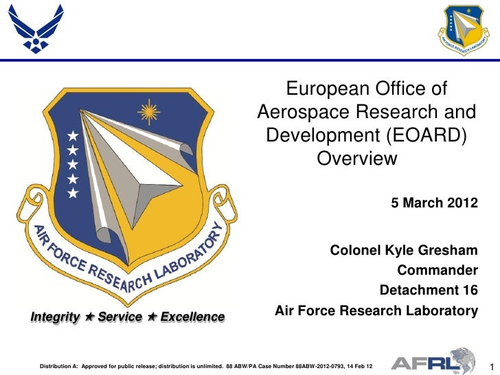European Office of                                                                               Aerospace Research and   ...