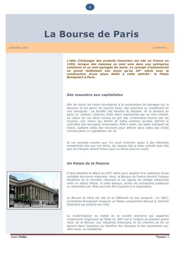 1                       La Bourse de Paris 2 JANVIER 2008                                                                 ...