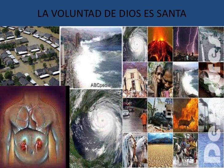 LA VOLUNTAD DE DIOS ES SANTA