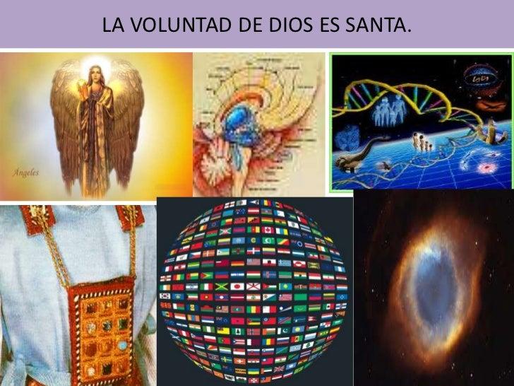 LA VOLUNTAD DE DIOS ES SANTA.