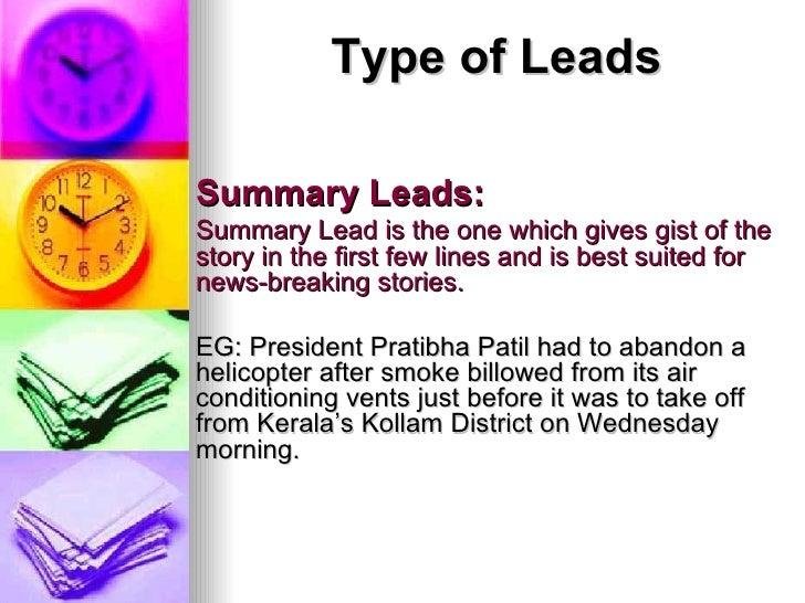 1. Print Media - Lead