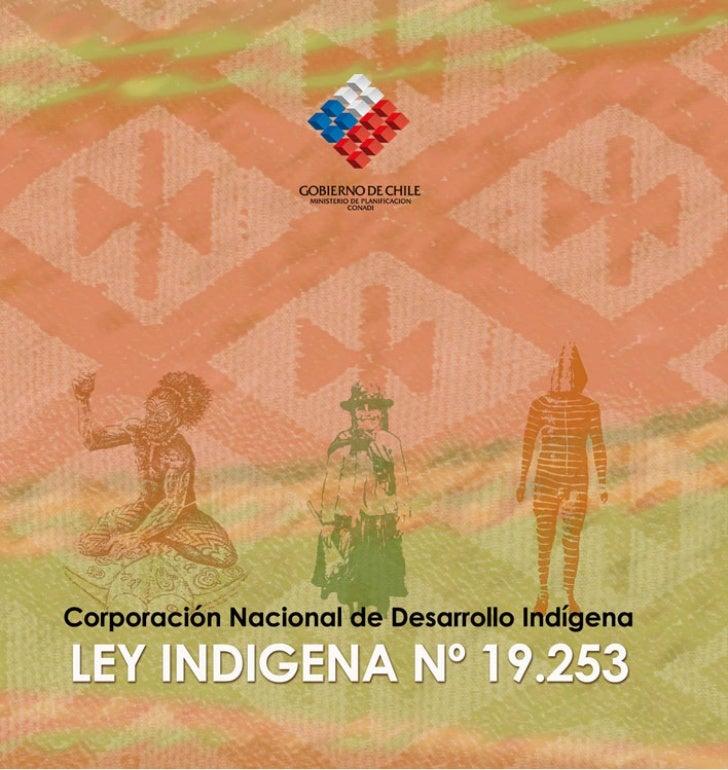 LEY INDIGENA Nº 19.253Corporación Nacional de Desarrollo Indígena