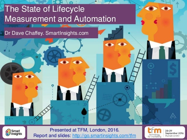 1@DaveChaffey The State of Lifecycle Measurement and Automation Dr Dave Chaffey. SmartInsights.com Presented at TFM, Londo...