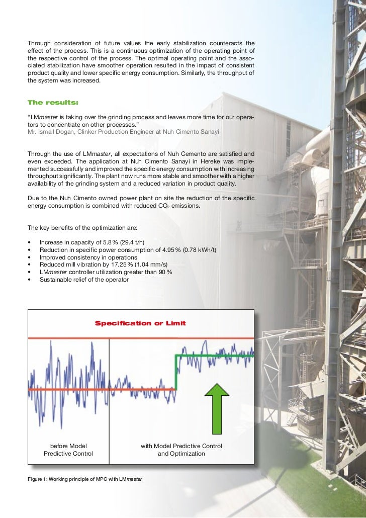 Improving the Performance of Loesche´s Vertical Mill 3 at Nuh Cimento in Hereke with LMmaster Slide 3