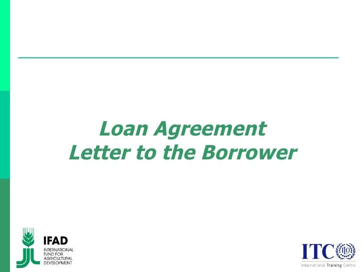 sample letter of loan agreement