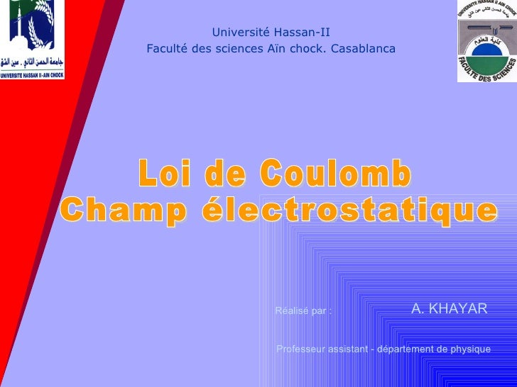Loi de coulomb
