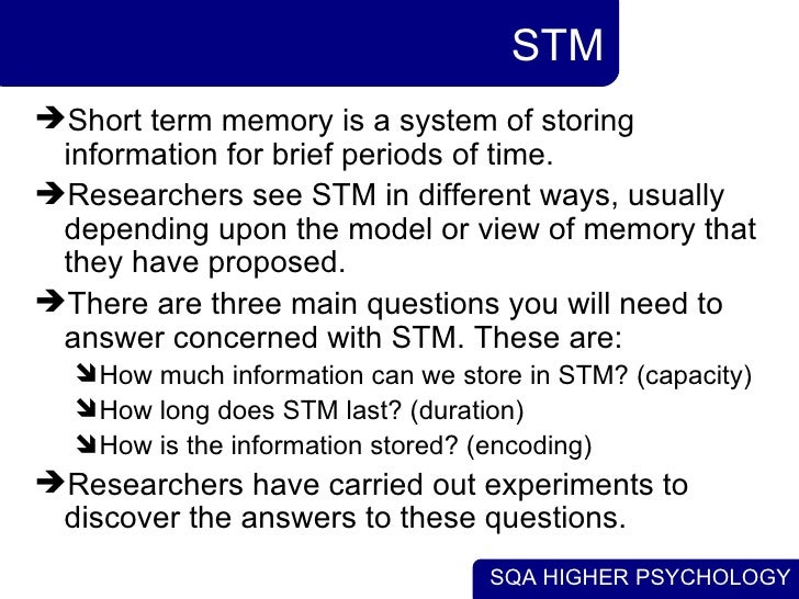 the distinct difference between short term and long term memory The relationship between long-term memory there are distinct differences long-term memory dr baddeley describes how he got into the field of short-term.
