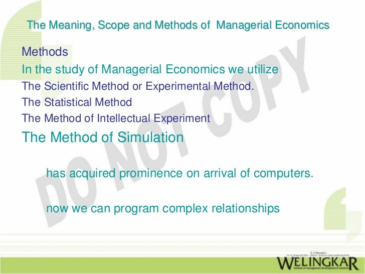 "meanning of managerial economics How 11 great economists reply the question, ""what is managerial economics"" what are points on which they agree to."