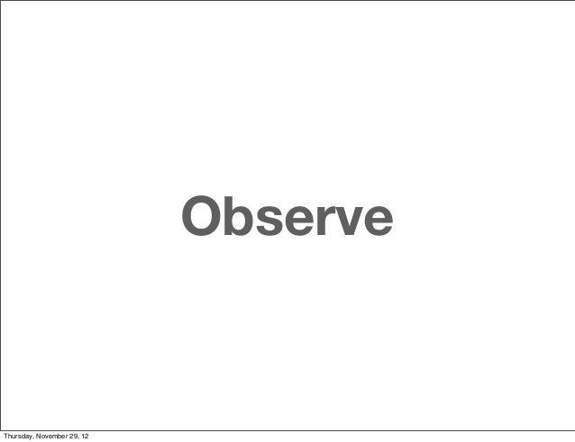 ObserveThursday, November 29, 12