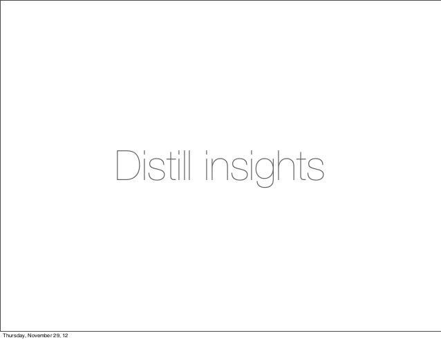 Distill insightsThursday, November 29, 12