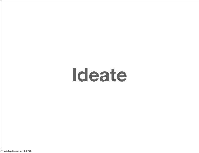 IdeateThursday, November 29, 12