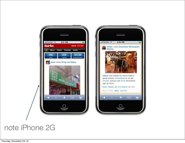 note iPhone 2GThursday, November 29, 12