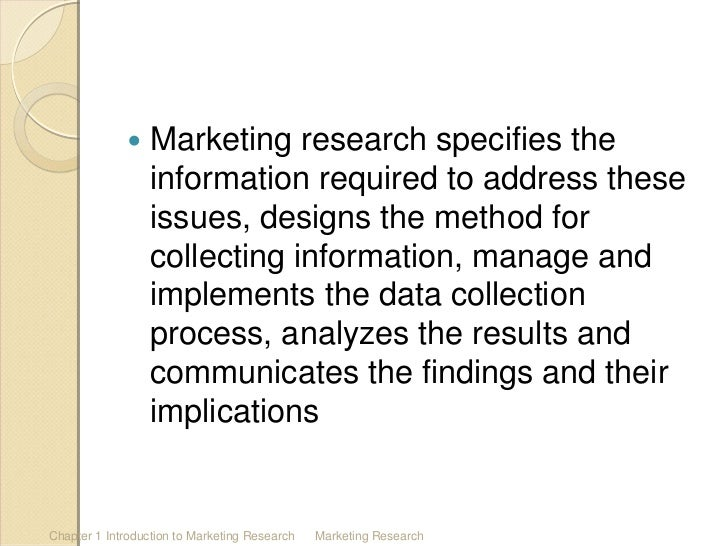 an introduction to marketing research To copy answers from the study guide, internet etc make sure that you also give  practical  the marketing concept is the strategy that firms implement to satisfy.